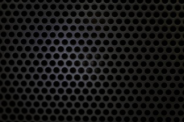 Textura de altavoz bluetooth negro