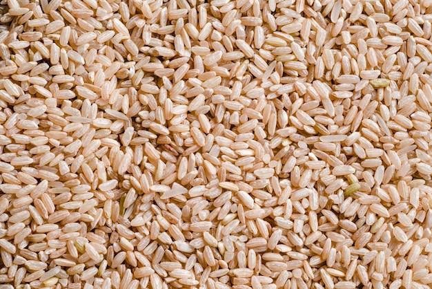 Textura del arroz integral.