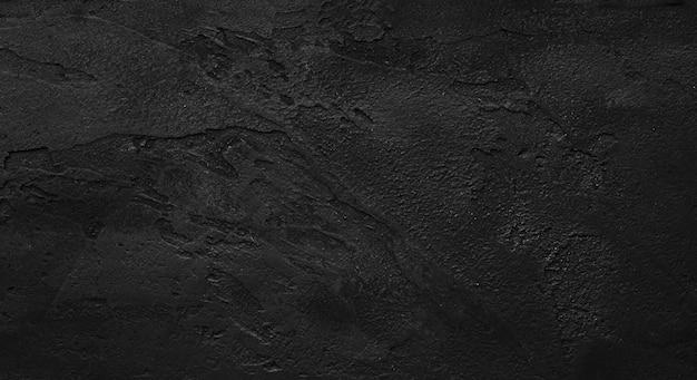 Textura áspera de la pared negra fondo áspero oscuro. piso de concreto o viejo fondo grunge con negro