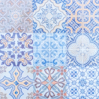 Textura de azulejos de la vendimia
