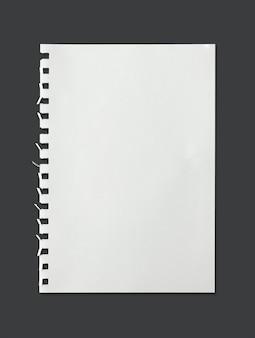 Textura blanca de la hoja de papel para el fondo con el camino de recortes.