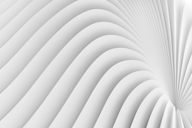 La textura del borde radiante de rayas blancas. ilustración 3d