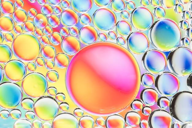 Textura de burbujas abstracta de arco iris