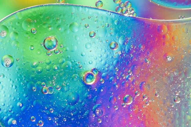 Textura de burbujas de colores del arco iris