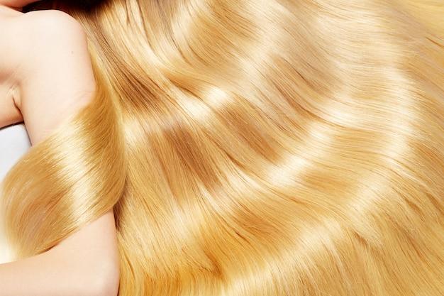 Textura de cabello rubio