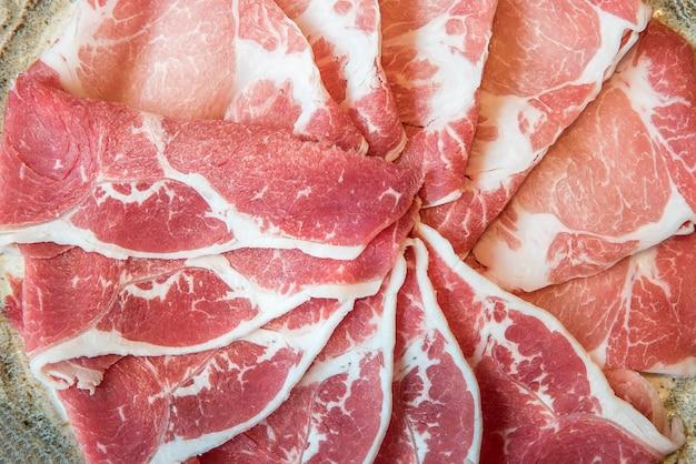 Textura de carne de res y cerdo
