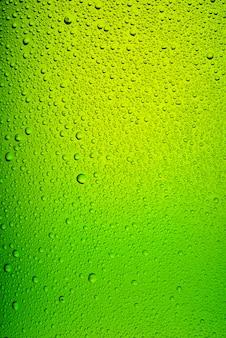 Textura de cerveza botella verde