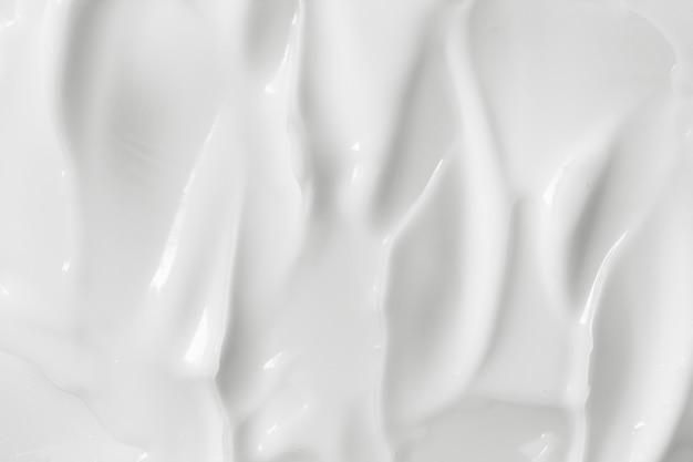 Textura de crema cosmética blanca
