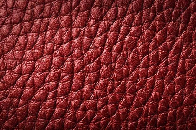 Textura de cuero rojo