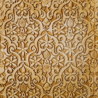 Textura de pared dorada arabe