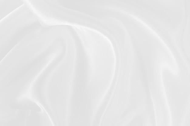 Textura y diseño de tela blanca, hermoso patrón de seda o lino.
