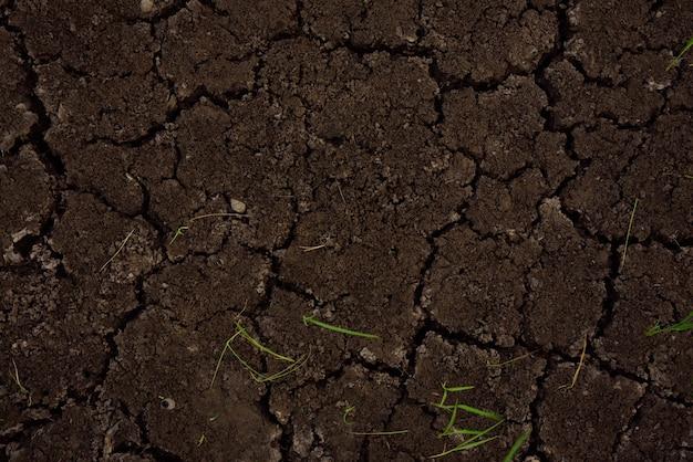 Textura y fondo de la fractura del suelo.