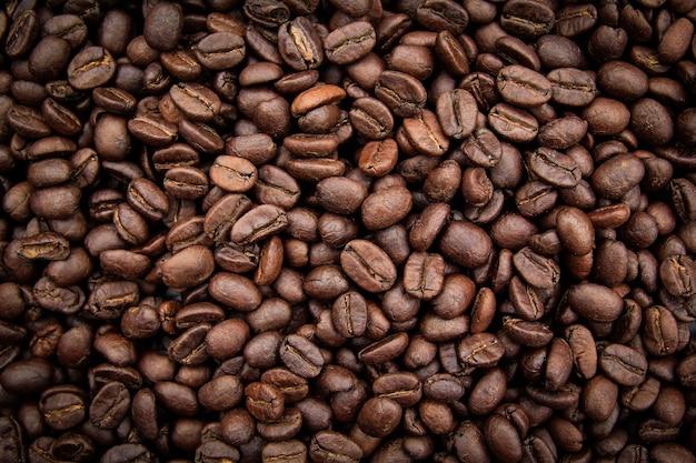 Textura de fondo de granos de café tostados