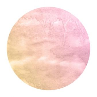 Textura de fondo de marco circular acuarela acuarela dibujada mano cálida con manchas