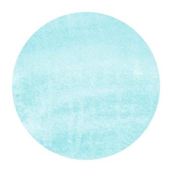 Textura de fondo de marco circular acuarela dibujada mano azul claro con manchas