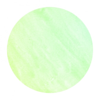 Textura de fondo de marco circular acuarela dibujada mano verde con manchas