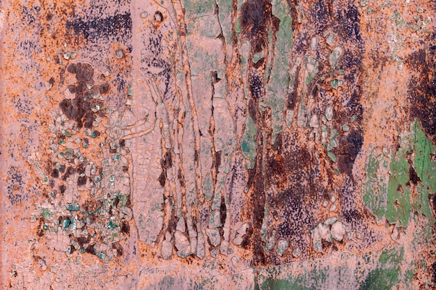 Textura de fondo de metal agrietado viejo oxidado