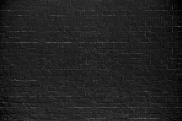 Textura y fondo negros de la pared de ladrillo.