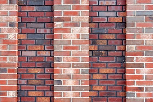 Textura de fondo de pared de ladrillo rojo