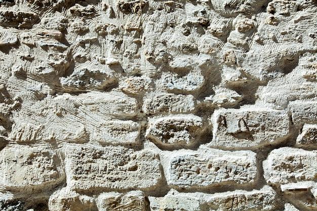 Textura de fondo de pared de piedra blanca