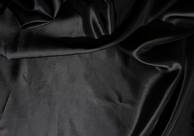 Textura de fondo de tela de seda negra