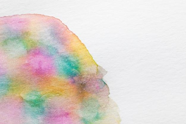 Textura de forma redondeada del arco iris sobre lienzo