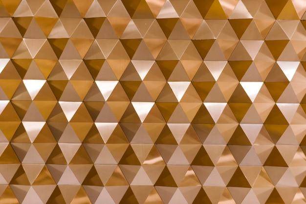 Textura geométrica 3d en cobre.