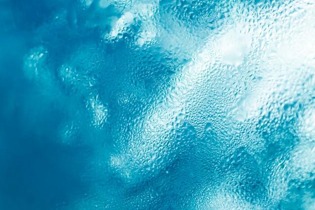 Textura de gotas de agua congelada vidrio de hielo fresco