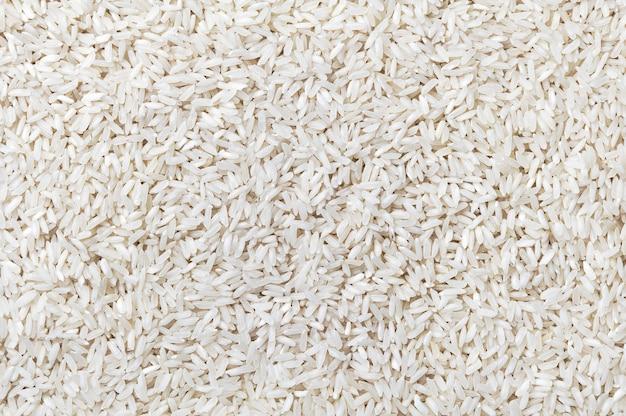 Textura de los granos de arroz blanco