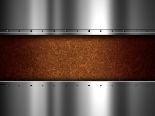 Textura grunge con planchas metálicas