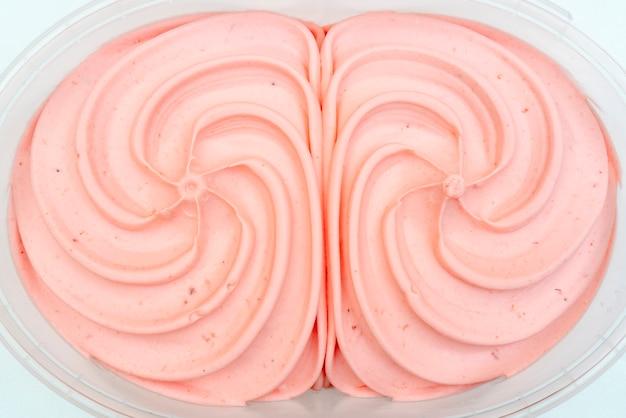 Textura de helado de fresa.