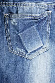 Textura de jeans de mezclilla rasgada azul