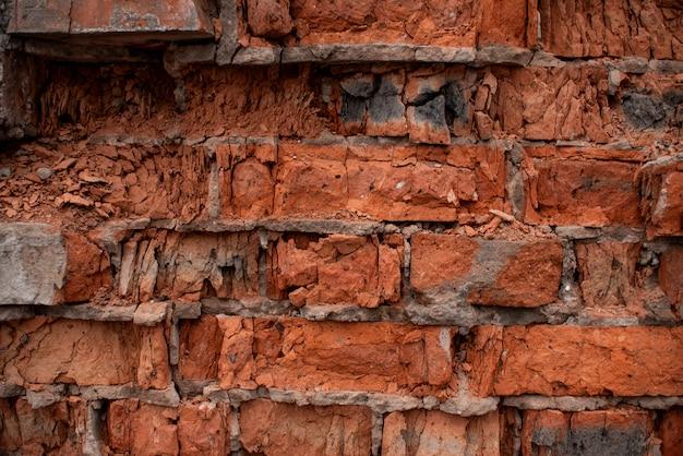Textura de ladrillo naranja roto con esquinas desconchadas y derribadas1