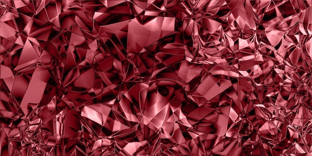Textura de lámina triturada brillante colorido rojo