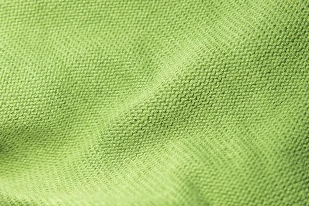 Textura de lana de tejer verde suave
