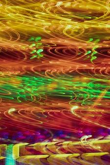 Textura de luces de neón de larga exposición