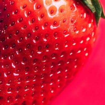 Textura macro de fresa