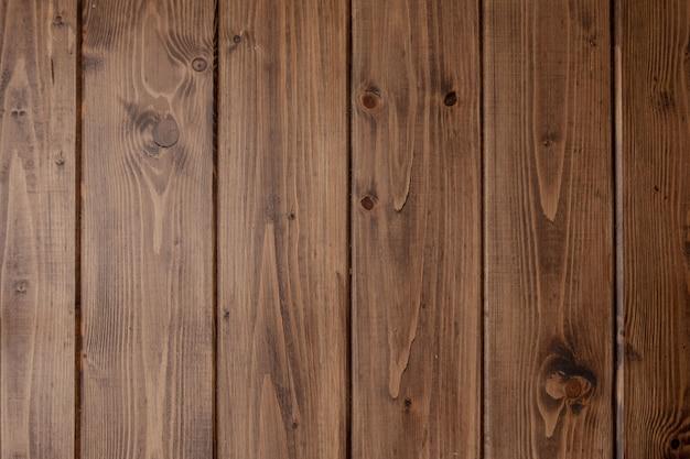 Textura de madera, fondo de grano de tablón de madera, escritorio de madera a rayas de cerca, mesa o piso antiguo, tableros marrones