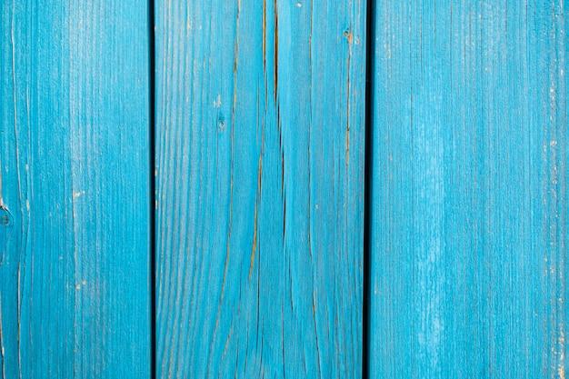 Textura de madera pintada de azul de pared de madera de fondo y textura.