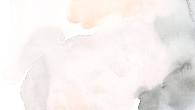 Textura de mancha de acuarela abstracta negra y marrón