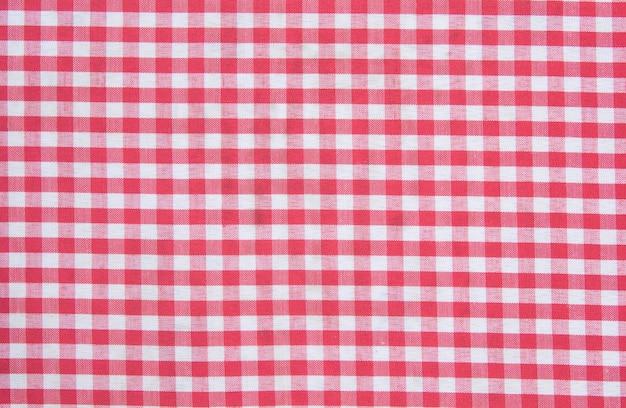 Textura de mantel a cuadros clásico rojo