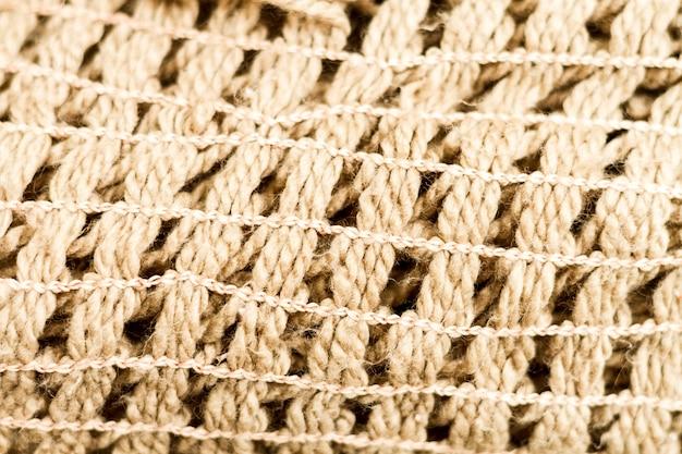 Textura de material de tela de arpillera de primer plano