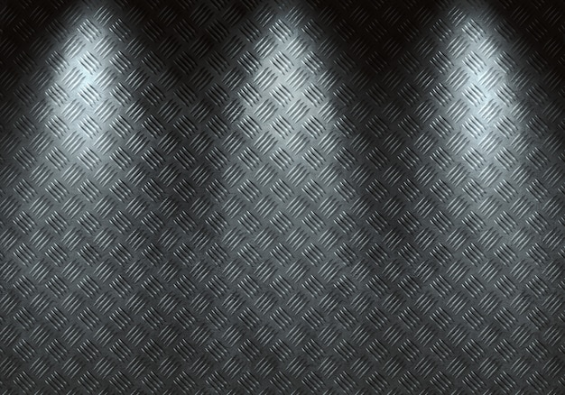 Textura de metal de diamante gris moderno abstracto, hoja con luz direccional.