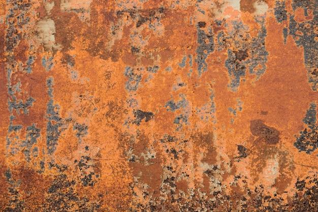 Textura de metal oxidado, fondo y textura de óxido de hierro de metal viejo, textura corroída de metal