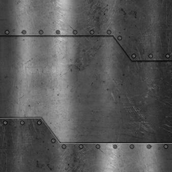 Textura de metal con tornillos