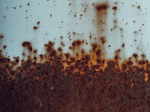 Textura de metal viejo oxidado con corrosión