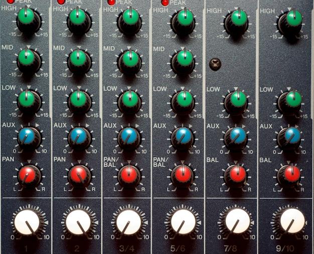 Textura de mezclador de sonido
