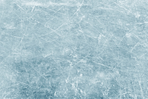 Textura natural de hielo de invierno, hielo azul como fondo