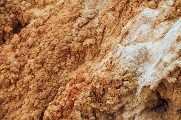 Textura natural del suelo con grietas