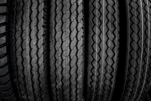 Textura de neumáticos grandes.